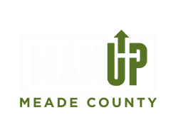 Man Up Meade County Logo White